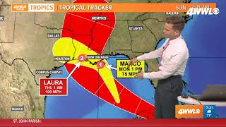 7AM: Tropical Storm Marco nearing hurricane strength as it enter Gulf of Mexico