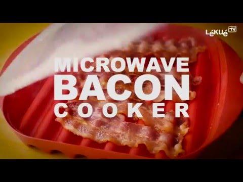 <p>Få perfekt sprødstegte baconskiver til med Bacon Maker. Bare læg skiverne i Bacon Maker og stil den i mikroovnen.</p>