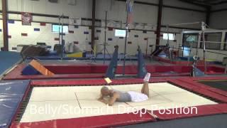 SOME BASICS ON TRAMPOLINE (JUMPS/SKILLS) - TUTORIAL - Gymnastics Tumbling Cheer Cheerleading