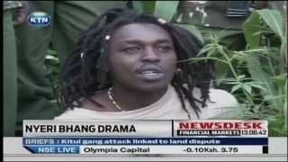 Drama in Nyeri as man is arrested for cultivating and using bhang