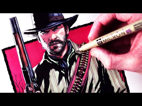 Let's Draw RED DEAD REDEMPTION 2 - FAN ART FRIDAY