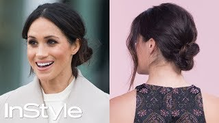 How to Master Meghan Markle's Messy Bun | Beauty School | InStyle