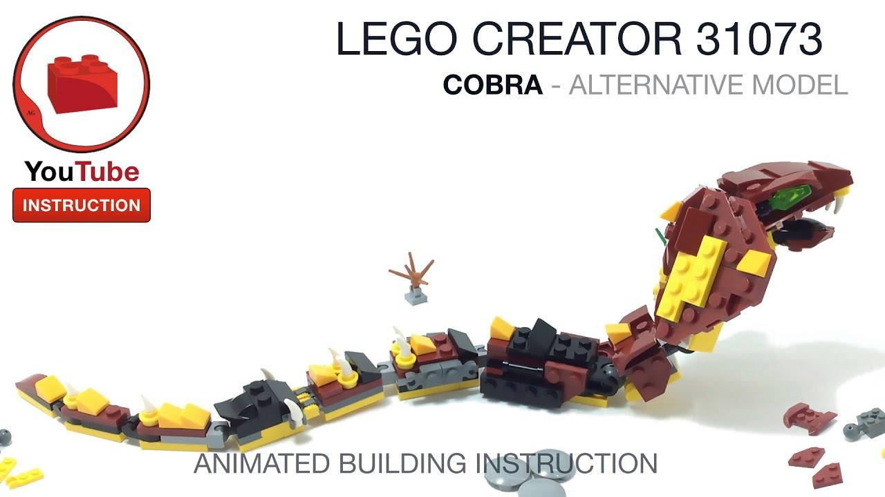 LEGO CREATOR 31073 alternative build instruction - Cobra Snake - MOC Самоделка Инструкция Змея Кобра