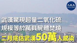 (字幕版) 武漢周圍上空驚現超量二氧化硫,規模等於萬具屍體焚燒,目前是日增5萬例,每5天翻倍。2月中下旬疫情將達高峰,估計武漢50萬人染病。  #香港大紀元新唐人聯合新聞頻道