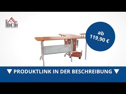 Homcom Eck-Computertisch PC Tisch Winkeltisch Schreibtisch - direkt kaufen!