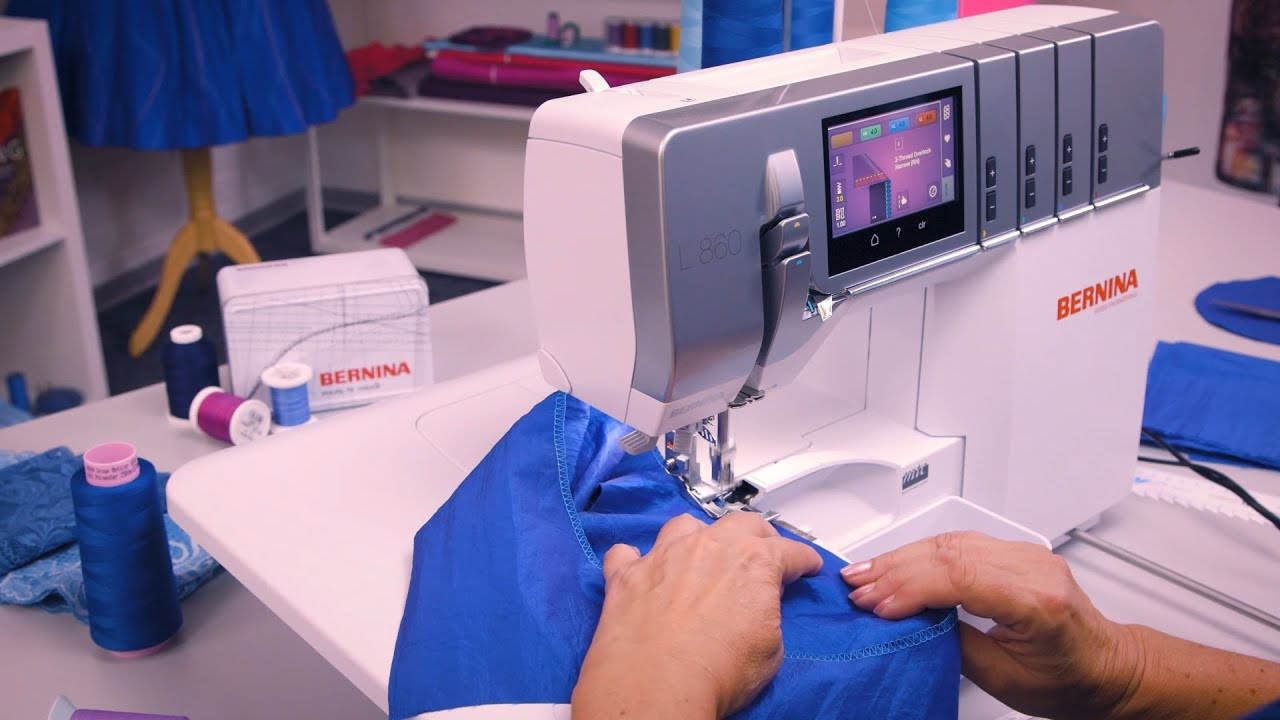 L 860 Overlocker: Sew the Beginning & End of the Seam in a Tube