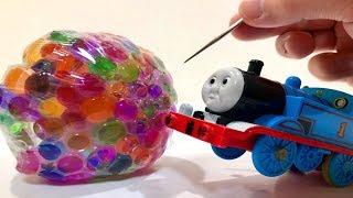 きかんしゃトーマスプラレール 水風船 ビーズで遊ぶ!Orbeez & Water Balloon Thomas&friends