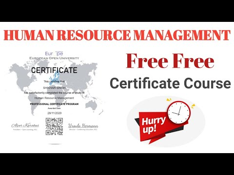 Human Resource Management | Free Certificate Course | HR Course | What is HRM ? | SHIKHAR SINGH
