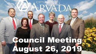 Preview image of City Council Meeting  - August 26, 2019