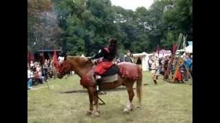 preview picture of video 'Reginenfest Eilenburg - Ritterturnier - Besuch Stanislaw Tillich - 23.08.2014'