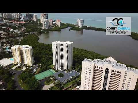 Pelican Bay Heron Naples Florida 360 degree fly over video