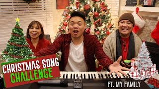 Christmas Song Challenge ft. My Family!!! | AJ Rafael
