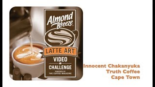 Please support Innocent Chakanyuka our head barista in the Almond Breeze South