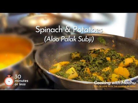 Image of Spinach Potato Curry (Palak Aloo Subji)