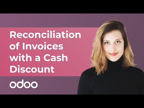 Reconciliation of Invoices with a Cash Discount | odoo Accounting