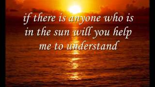 Joseph Arthur - In the Sun (with lyrics)