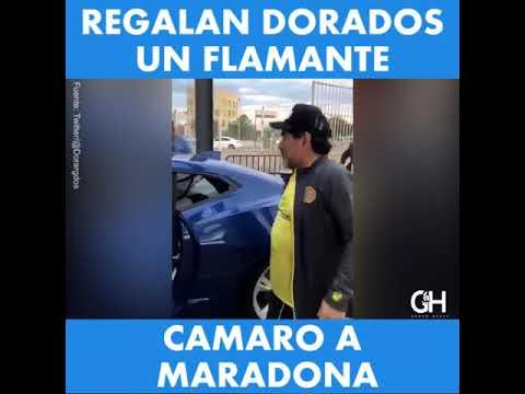 Regalan Dorados un Camaro a Maradona
