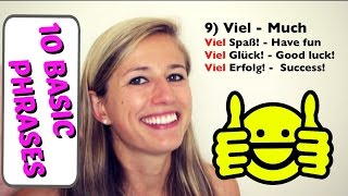 GERMAN LESSON 55: 10 Basic German Words EVERY Beginner MUST know!