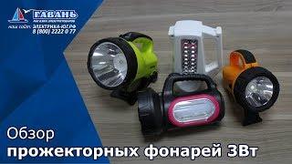 Обзор прожекторных фонарей 3Вт