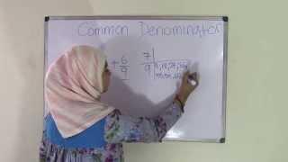 5th Grade Math How To Find Common Denominators