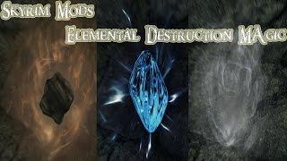 The Elder Scrolls V: Skyrim Mods: Elemental Destruction Magic and Three Katana Mod