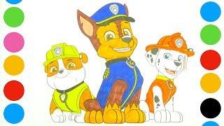 Раскраска Щенячий патруль. Видео для детей