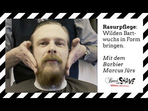 Wilden Bartwuchs in Form bringen - Bart trimmen - Konturen rasieren - Marcus Jürs