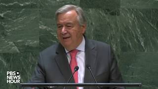 WATCH: UN Secretary-General Guterres's full speech to the United Nations General Assembly