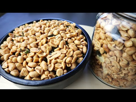 Trik menggoreng kacang bawang yang benar, renyah, gurih dan cantik warnanya, tidak berminyak