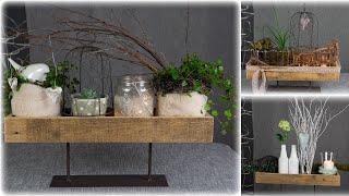 3 Varianten Für Tablettdeko | Mit Pflanzen🌿Windlicht🕯und Accessoires 🐦| Blumen Und Dekoration