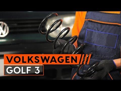 Wie VW GOLF 3 1H1 Schrägheck Fahrwerksfedern wechseln [TUTORIAL AUTODOC]