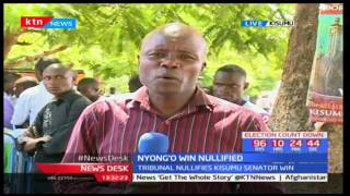Kisumu residents express mixed reactions as Elections Tribunal nullify Anyang' Nyong'o's win