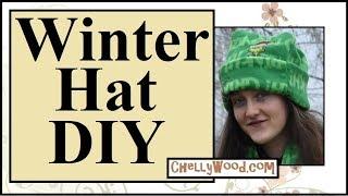Easy DIY Polar Fleece Hat YouTube Tutorial Video