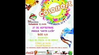 preview picture of video 'Color Fest Valladolid Yucatán 2014'