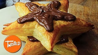 Homemade Chocolate Hazelnut Christmas Tree Tower | Holiday Desserts | Christmas Recipes | Twisted