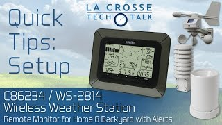 C86234 / WS-2814 Quick Tips: Setup
