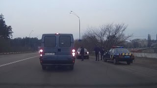 ПолицеГАЙские рейды тормозят машины * Бровары 12 03 2017