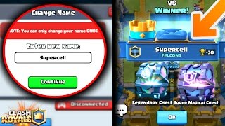 WHAT HAPPENS IF YOU CHANGE YOUR NAME TO SUPERCELL!? CLASH ROYALE MYTHS!