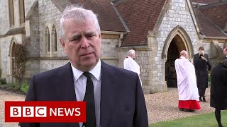 Prince Philip's death 'left huge void' for the Queen, says Prince Andrew - BBC News