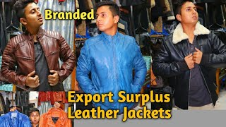 Export Surplus Branded Leather Jackets For Mens And Womens   100% Pure Leather   VANSHMJ