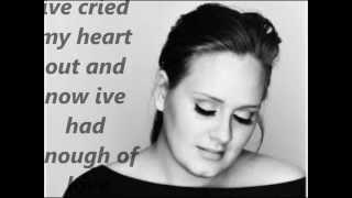 Adele Right As Rain - with lyrics