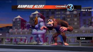 Rampage: Total Destruction Gamecube 2 player Netplay 60fps