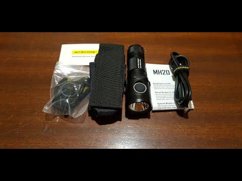 Banggood Nitecore MH20 L2 U2 CW 1000LM USB LED Flashlight 18650 - Unboxing