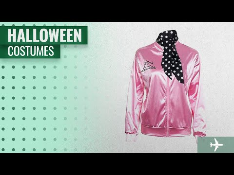 Newcos Men Halloween Costumes [2018]: Pink Ladies Jacket 50S T Bird Danny Pink Satin Jacket