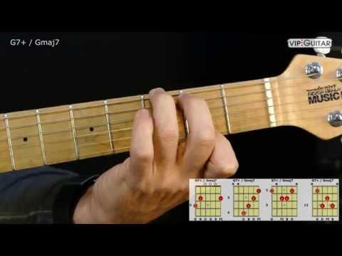 Gitarrenakkorde: G7+ / Gmaj7 chord