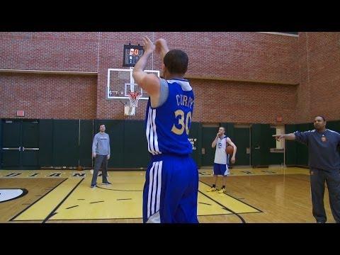 Shooting Contest: Curry vs. Coach Jackson