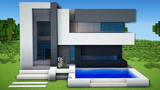 Minecraft Small Easy Modern House Tutorial How To Build A House In Minecraft Minecraftvideos Tv