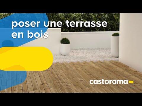 Poser une terrasse en lames bois (Castorama)