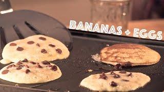 2 Ingredient Banana Pancakes -Maple Whiskey Chocolate Syrup