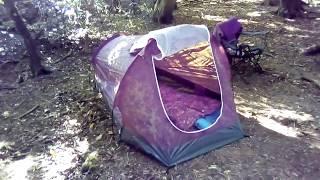 """MFH Tunnel Tent """"Hochstein"""" 2 man. Wild camp test."""
